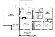Ranch Style House Plan - 3 Beds 2 Baths 1360 Sq/Ft Plan #57-108 Floor Plan - Main Floor Plan