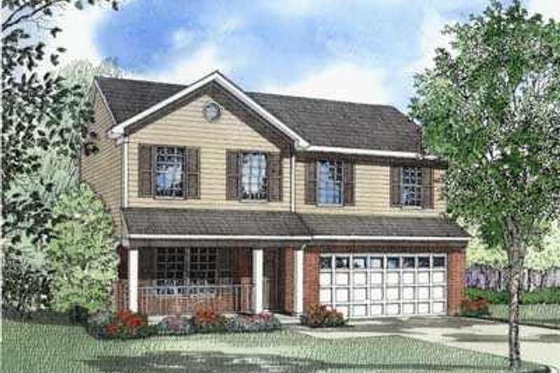 Home Plan - Southern Exterior - Front Elevation Plan #17-430