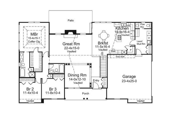 Ranch Floor Plan - Main Floor Plan Plan #57-661