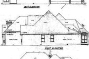 European Style House Plan - 3 Beds 3.5 Baths 2451 Sq/Ft Plan #52-122 Exterior - Rear Elevation