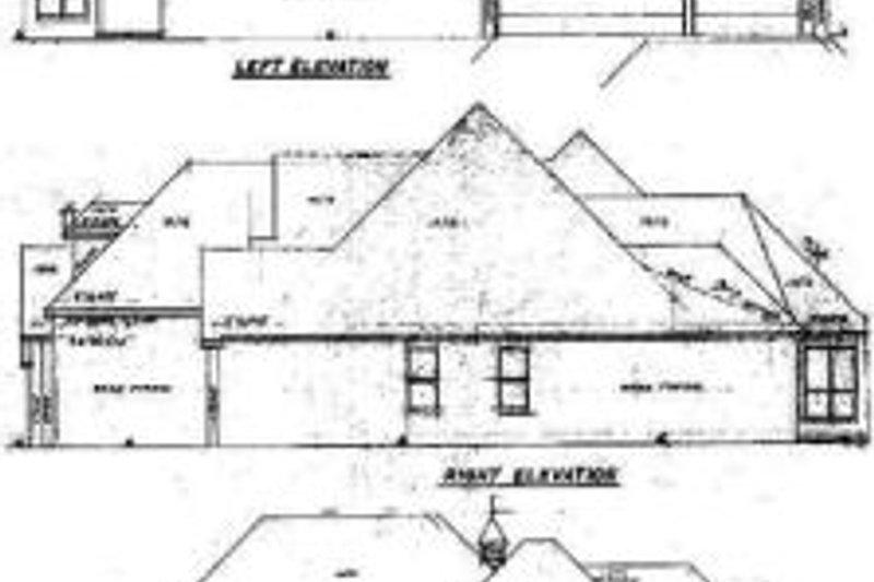 European Exterior - Rear Elevation Plan #52-122 - Houseplans.com