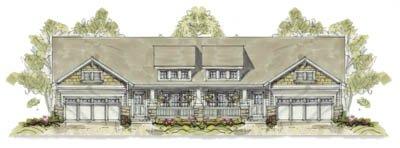 Bungalow Exterior - Front Elevation Plan #20-1240