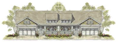 Bungalow Exterior - Front Elevation Plan #20-1240