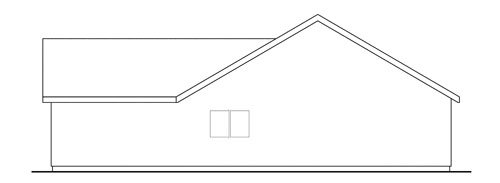 Traditional Exterior - Rear Elevation Plan #124-656 - Houseplans.com