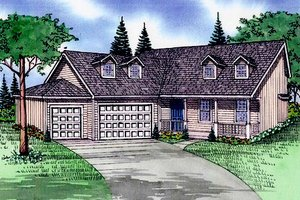 Architectural House Design - Traditional Exterior - Front Elevation Plan #405-184