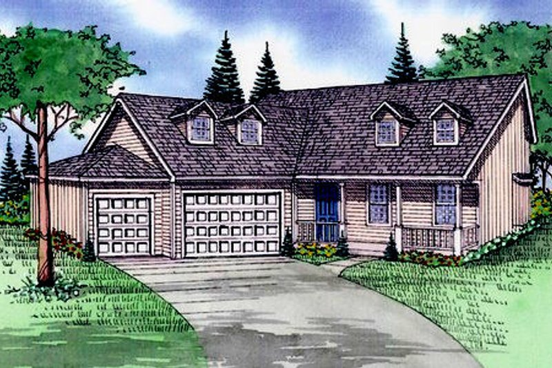 Traditional Exterior - Front Elevation Plan #405-184 - Houseplans.com