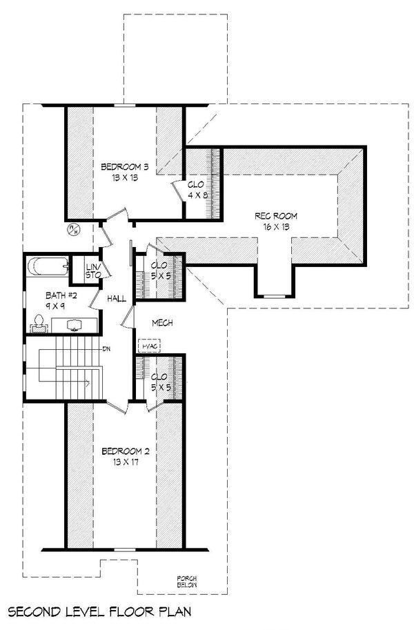 Home Plan - Country Floor Plan - Upper Floor Plan #932-259