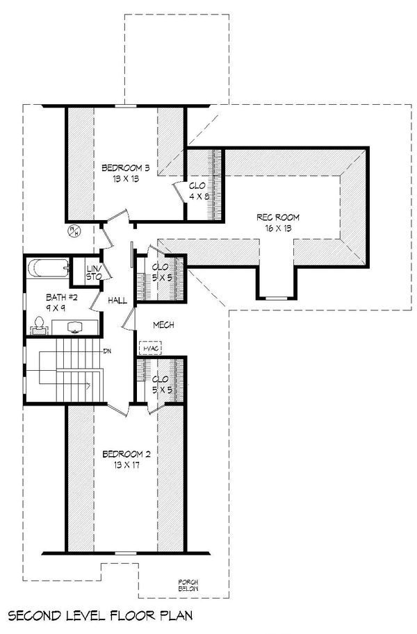 Dream House Plan - Country Floor Plan - Upper Floor Plan #932-259