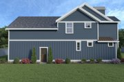 Contemporary Style House Plan - 4 Beds 2.5 Baths 1842 Sq/Ft Plan #1070-83 Exterior - Rear Elevation