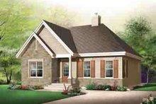 Cottage Exterior - Front Elevation Plan #23-618
