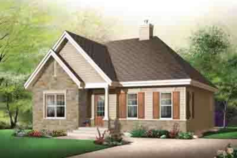 Cottage Exterior - Front Elevation Plan #23-618