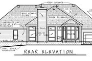 Traditional Style House Plan - 2 Beds 2 Baths 1996 Sq/Ft Plan #20-2419 Exterior - Rear Elevation