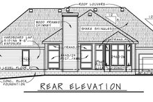 Home Plan - Traditional Exterior - Rear Elevation Plan #20-2419
