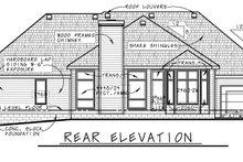 House Plan Design - Traditional Exterior - Rear Elevation Plan #20-2419