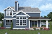 Contemporary Style House Plan - 4 Beds 2.5 Baths 1842 Sq/Ft Plan #1070-83 Exterior - Other Elevation