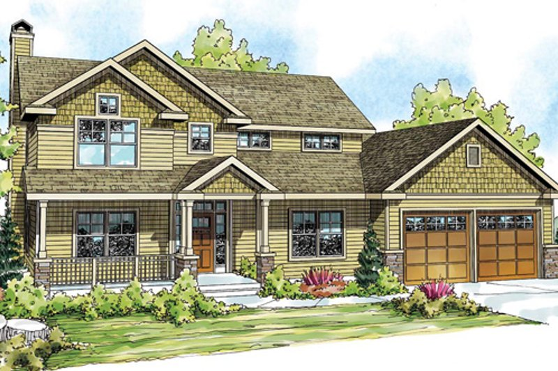 Craftsman Exterior - Front Elevation Plan #124-845 - Houseplans.com