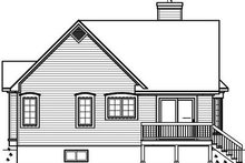 House Plan Design - Country Exterior - Rear Elevation Plan #23-785