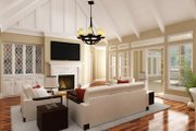 European Style House Plan - 5 Beds 4.5 Baths 4654 Sq/Ft Plan #45-379 Interior - Family Room