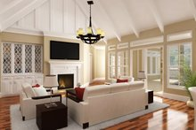 European Interior - Family Room Plan #45-379