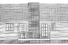 House Plan Design - Traditional Exterior - Rear Elevation Plan #56-106
