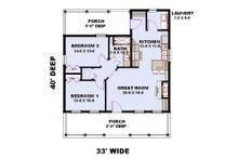 Farmhouse Floor Plan - Main Floor Plan Plan #44-222
