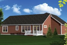 Dream House Plan - Ranch Exterior - Rear Elevation Plan #70-1047