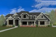 Craftsman Style House Plan - 8 Beds 7 Baths 8903 Sq/Ft Plan #920-31 Exterior - Front Elevation