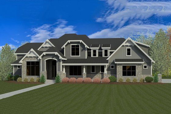 Craftsman Exterior - Front Elevation Plan #920-31