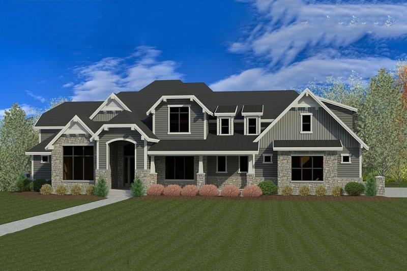 Home Plan - Craftsman Exterior - Front Elevation Plan #920-31