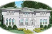 European Style House Plan - 8 Beds 5.5 Baths 8760 Sq/Ft Plan #81-652 Exterior - Front Elevation
