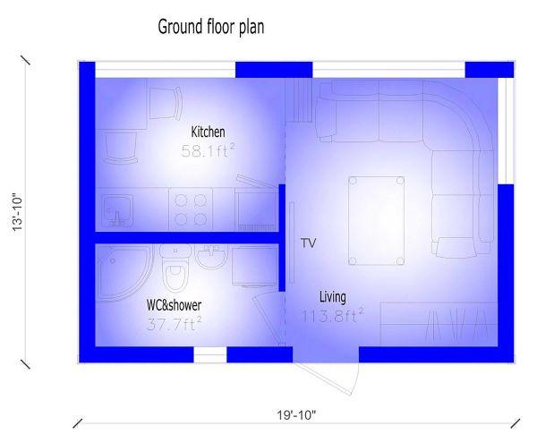 Modern Floor Plan - Lower Floor Plan #549-31