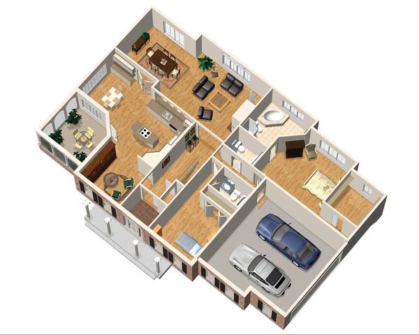 Classical Floor Plan - Main Floor Plan Plan #25-4822