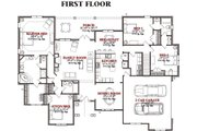 Traditional Style House Plan - 4 Beds 3 Baths 2732 Sq/Ft Plan #63-222 Floor Plan - Main Floor Plan