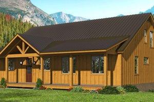 Cottage Exterior - Front Elevation Plan #932-318