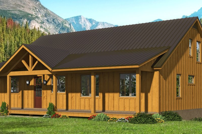 Dream House Plan - Cottage Exterior - Front Elevation Plan #932-318