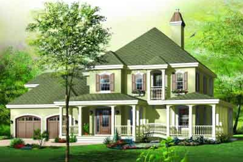 European Exterior - Front Elevation Plan #23-592