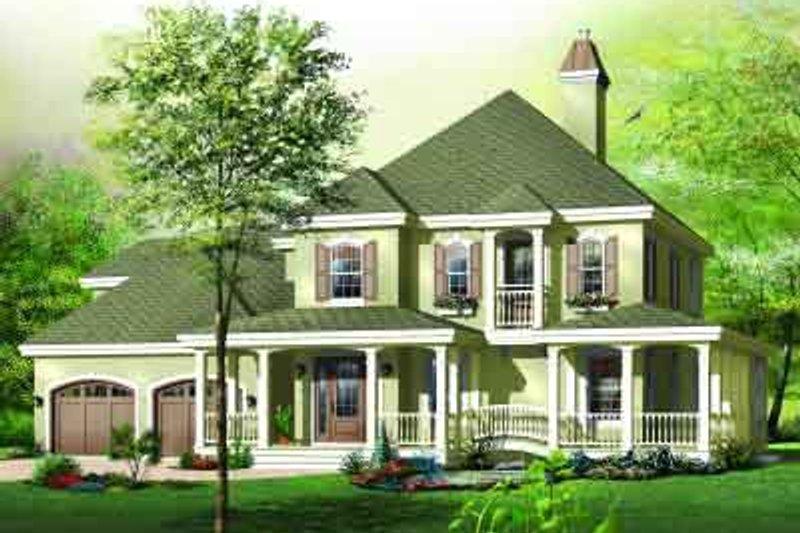 European Exterior - Front Elevation Plan #23-592 - Houseplans.com