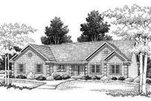 Dream House Plan - European Exterior - Front Elevation Plan #70-765