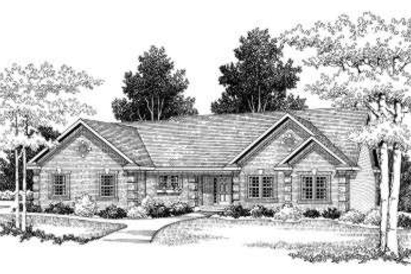 European Exterior - Front Elevation Plan #70-765