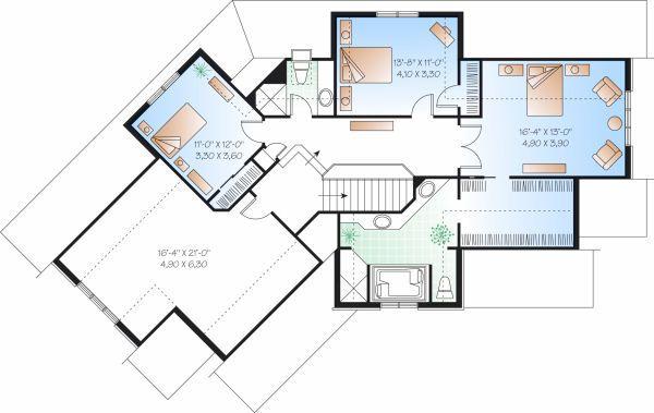 European Floor Plan - Upper Floor Plan Plan #23-718