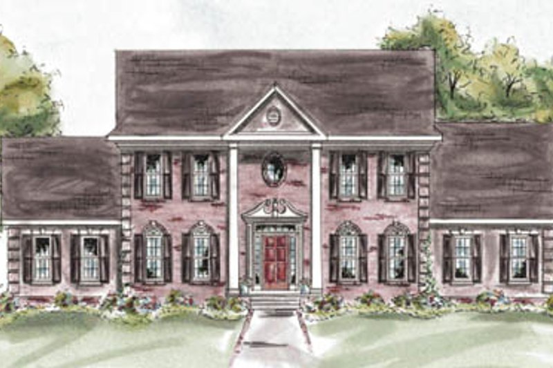 Colonial Exterior - Front Elevation Plan #20-1283