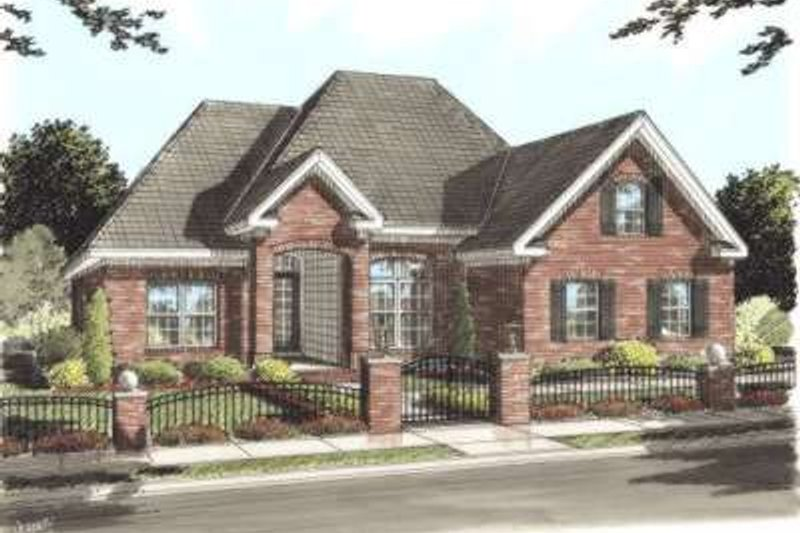 Traditional Style House Plan - 3 Beds 2 Baths 1595 Sq/Ft Plan #20-1672 Exterior - Front Elevation
