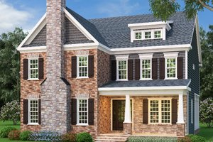 Home Plan - Colonial Exterior - Front Elevation Plan #419-251