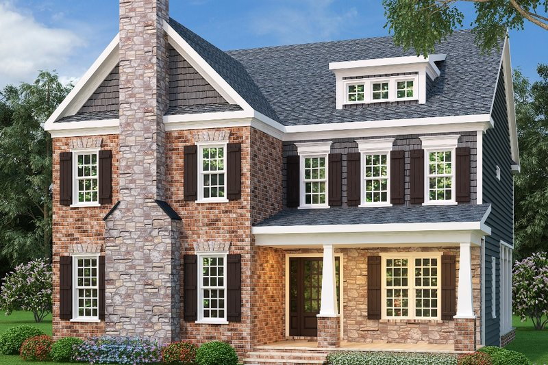 Colonial Exterior - Front Elevation Plan #419-251