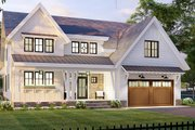 Farmhouse Style House Plan - 4 Beds 3.5 Baths 3146 Sq/Ft Plan #51-1168 Exterior - Front Elevation
