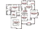 European Style House Plan - 4 Beds 3 Baths 2606 Sq/Ft Plan #63-269 Floor Plan - Main Floor Plan