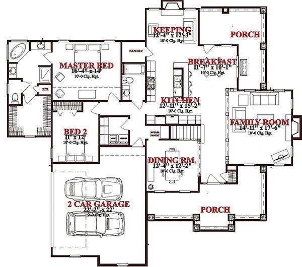 European Floor Plan - Main Floor Plan Plan #63-269