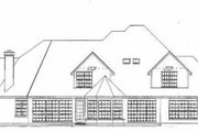 European Style House Plan - 4 Beds 5.5 Baths 4141 Sq/Ft Plan #52-157 Exterior - Rear Elevation