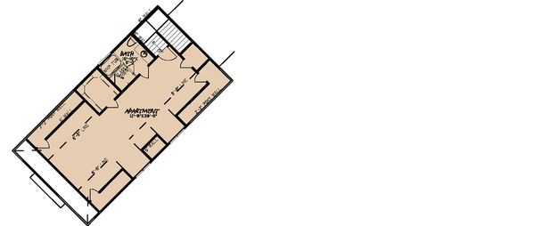 Craftsman Floor Plan - Upper Floor Plan Plan #923-21