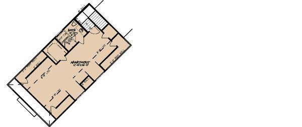 Craftsman Floor Plan - Upper Floor Plan Plan #923-21